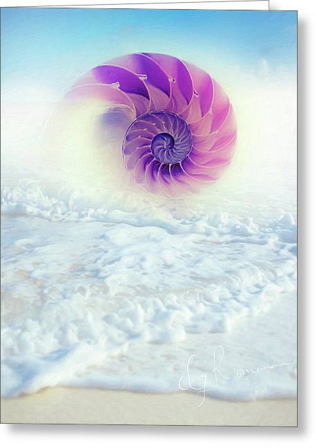 Ocean To Infinity Greeting Card by Georgiana Romanovna