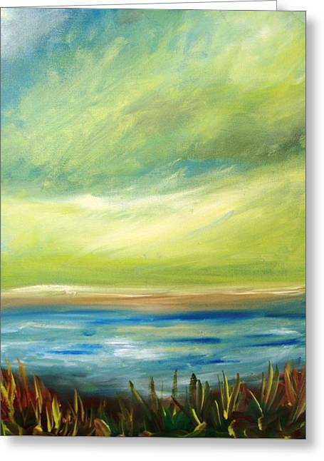 Ocean View From The Beach House Greeting Card