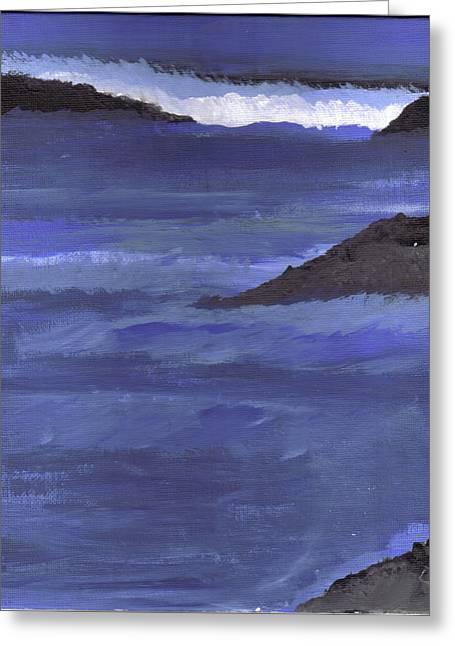 Ocean View Greeting Card by Lynnette Jones