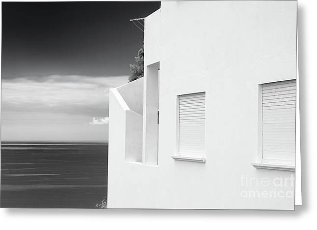 Ocean View White House Greeting Card