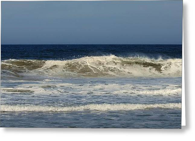 Ocean Wave - Jersey Shore Greeting Card by Angie Tirado