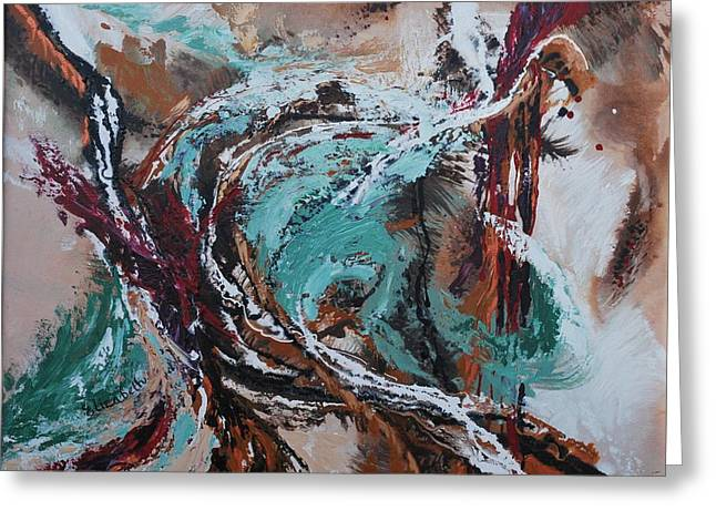 Ocean Wave Abstract Greeting Card by Beth Maddox