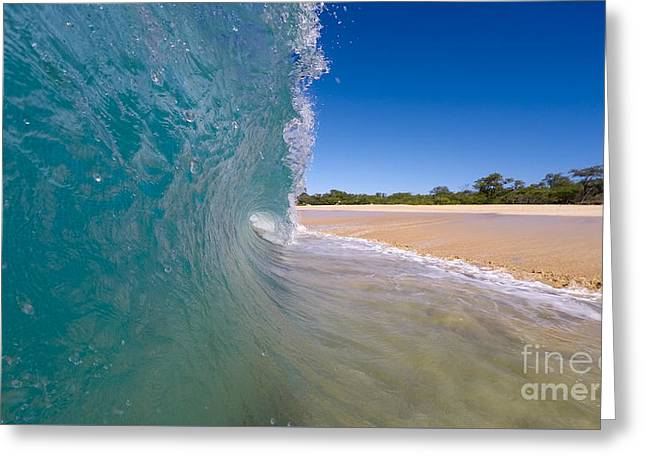 Ocean Wave Barrel Greeting Card by Dustin K Ryan