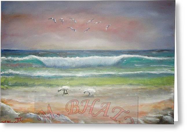 Ocean Wave Greeting Card by M Bhatt