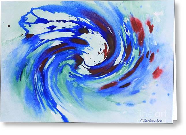Ocean Wave Watercolor Greeting Card