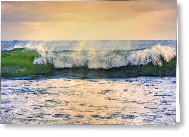 Ocean Waves Greeting Card by Dapixara Art