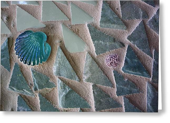 Ocean Waves Mosaic Closeup Greeting Card