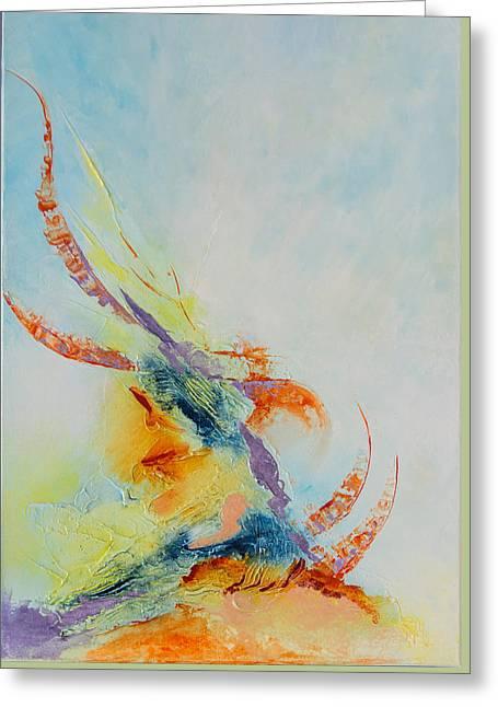 Oceane Greeting Card by Francoise Dugourd-Caput