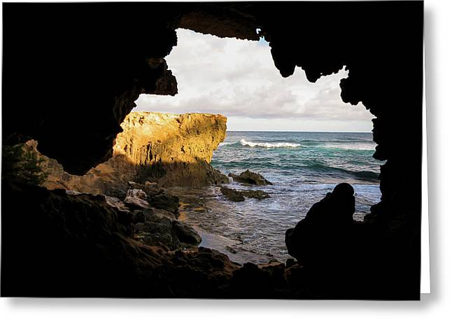 Oceanfront Cave Greeting Card