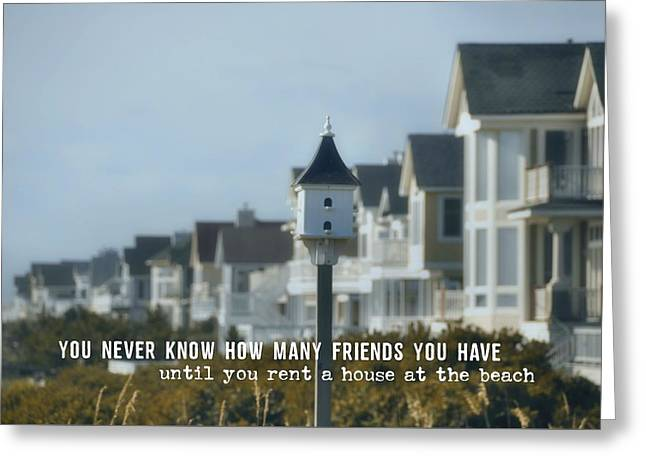 Oceanfront Quote Greeting Card by JAMART Photography
