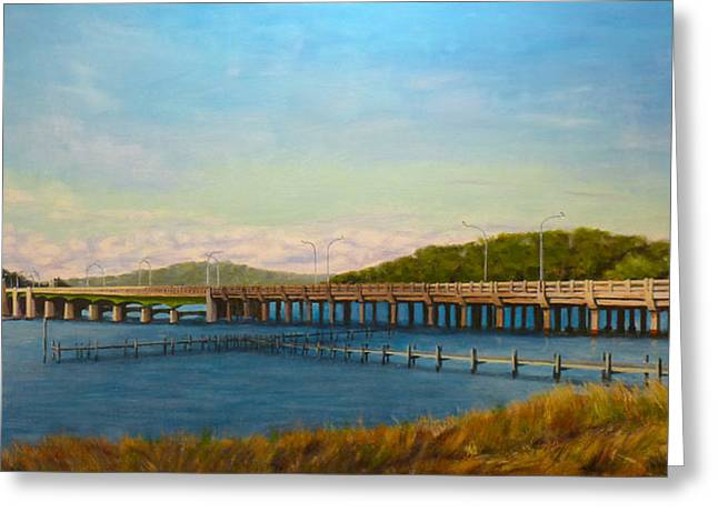 Oceanic Bridge Greeting Card