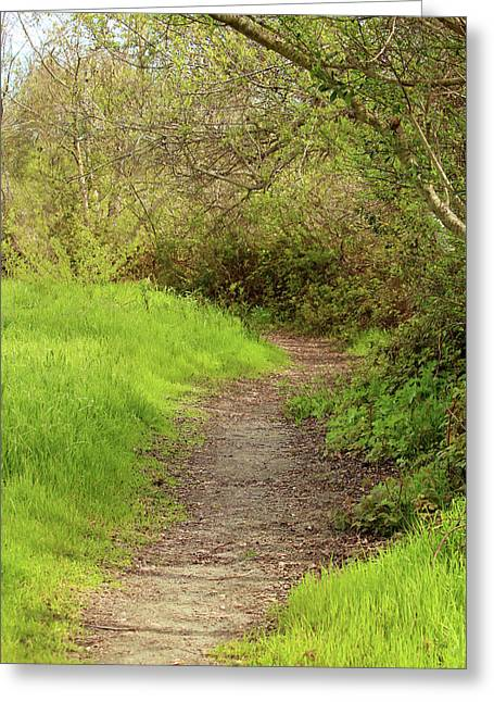 Greeting Card featuring the photograph Oceano Lagoon Trail by Art Block Collections