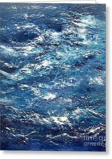 Ocean's Blue Greeting Card