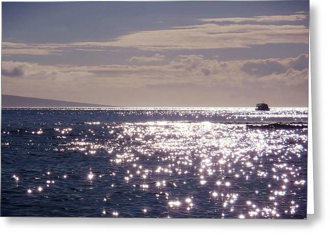 Oceans Light Greeting Card by JAMART Photography