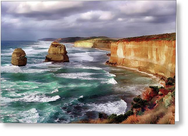 Oceans Of Melbourne Australia Greeting Card