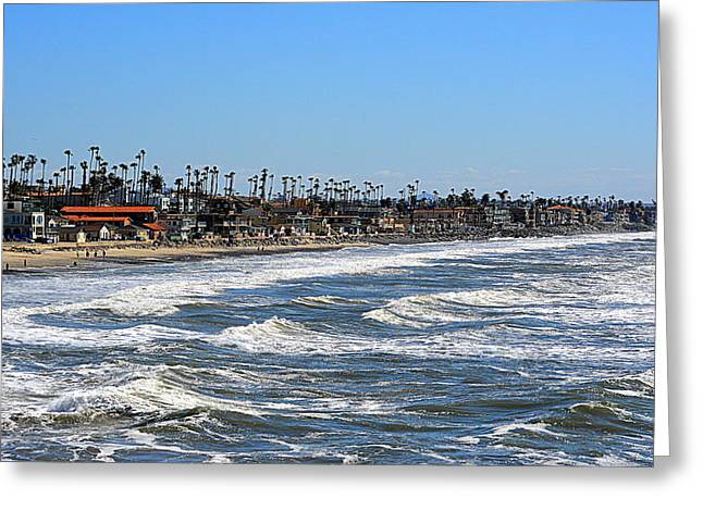 Greeting Card featuring the photograph Oceanside by AJ Schibig