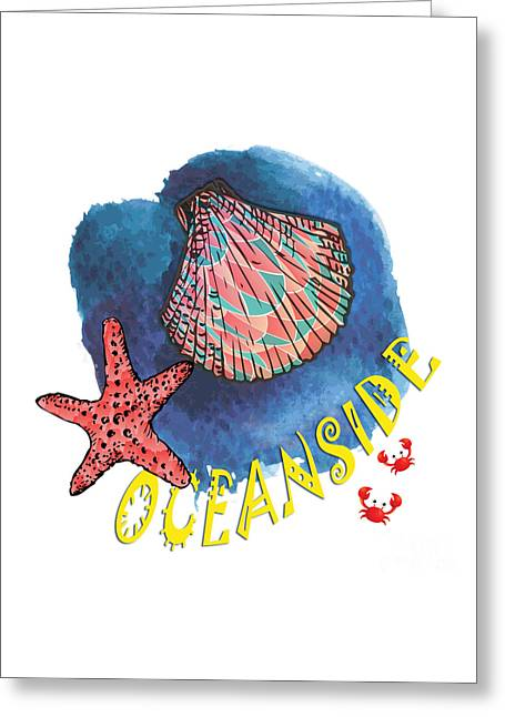 Oceanside Greeting Card by Gaspar Avila