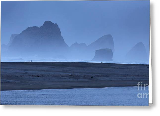 Oceanside Hoodoos Along The Oregon Coast Greeting Card by Max Allen