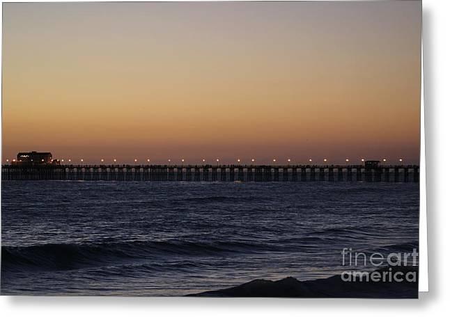 Oceanside Pier Greeting Card by Jenny Revitz Soper