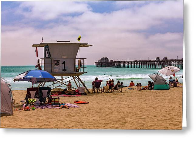 Oceanside Lifeguard Greeting Card