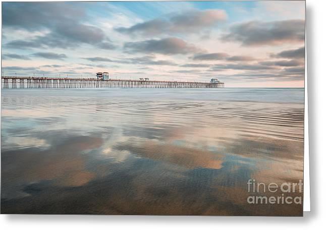 Oceanside Pier Gloss Greeting Card