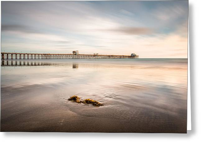 Greeting Card featuring the photograph Oceanside Pier Pastels by Alexander Kunz