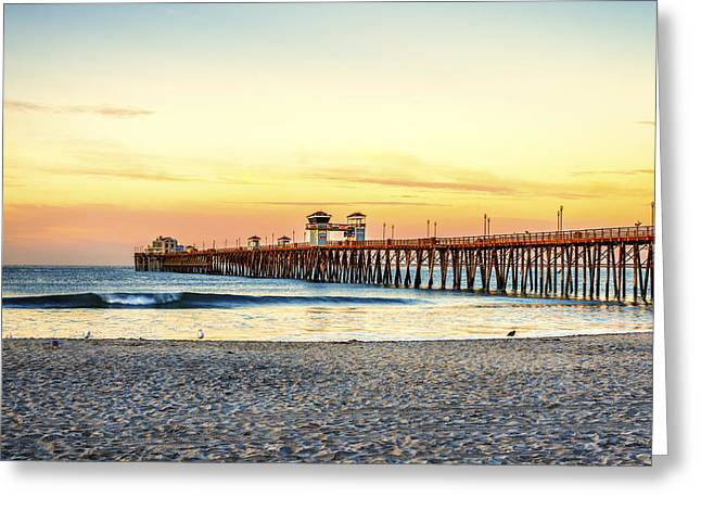 Oceanside Pier Sunrise Greeting Card by Joseph S Giacalone