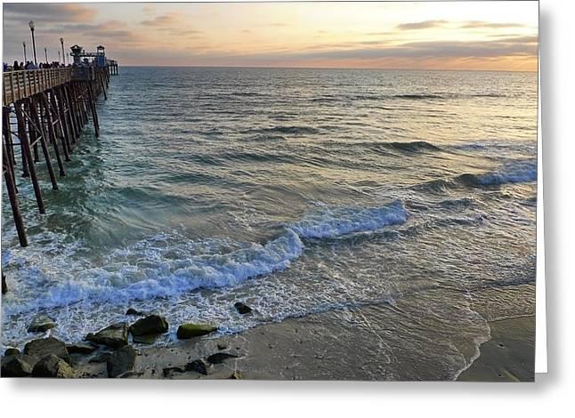 Oceanside Greeting Card by Skip Hunt