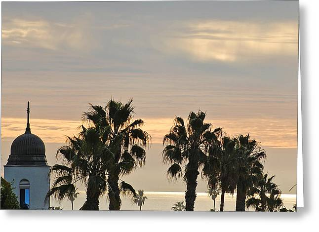 Oceanside Sky Greeting Card by Jean Booth