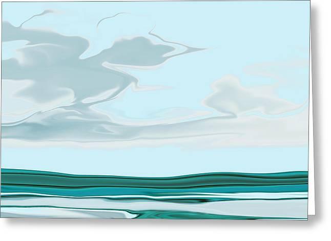 Oceanus Iv Greeting Card by Pauline Thomas