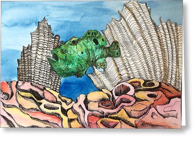 Ocellated Frogfish Greeting Card