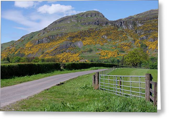 Greeting Card featuring the photograph Ochil Hills In Clackmannanshire by Jeremy Lavender Photography