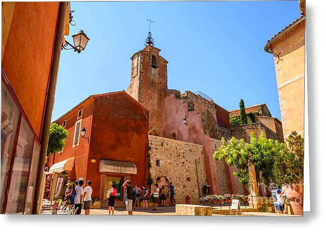 Ochre In Provence, Roussillon Greeting Card by Sinisa CIGLENECKI