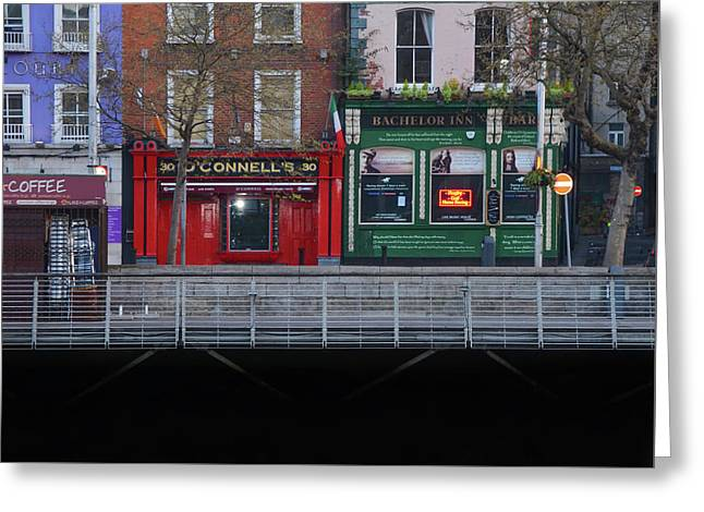 Oconnells Pub And The Batchelor Inn - Dublin Ireland Greeting Card by Bill Cannon