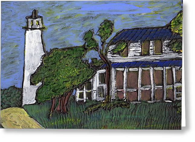 Ocracoke Island Light House Greeting Card