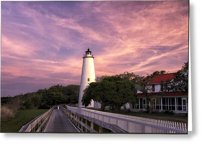 Ocracoke Lighthouse 01 Greeting Card