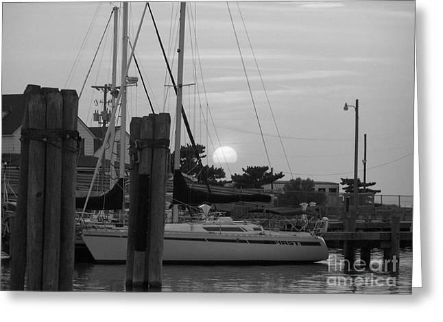 Ocracoke Sunset  Greeting Card by Randy Edwards