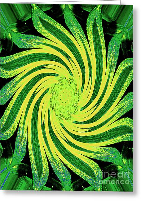 Greeting Card featuring the digital art Octagonal Painting Put Into Motion by Merton Allen