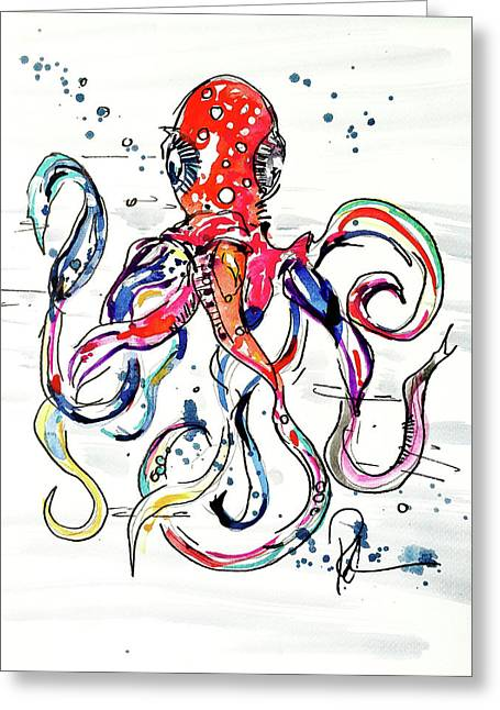 Octo Baby Greeting Card by Reba Mcconnell