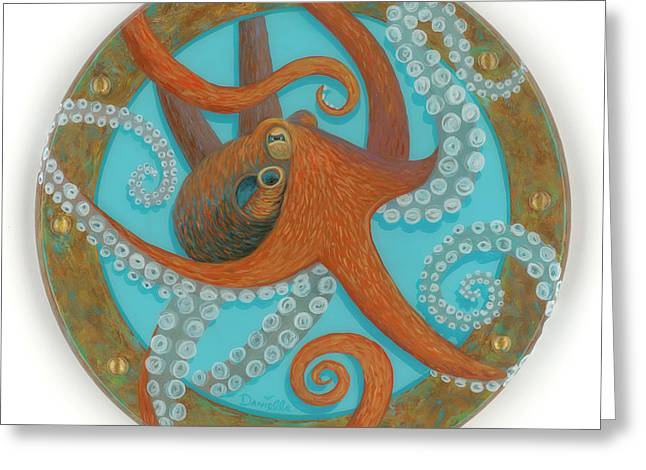 Octo Porthole Greeting Card