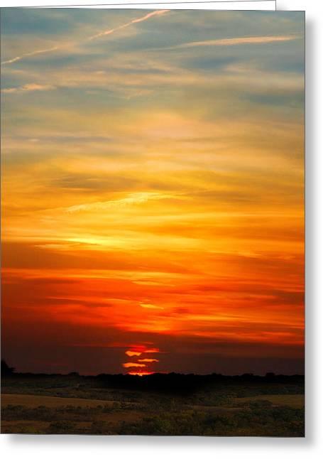 October 30, 2011 Sunset Greeting Card