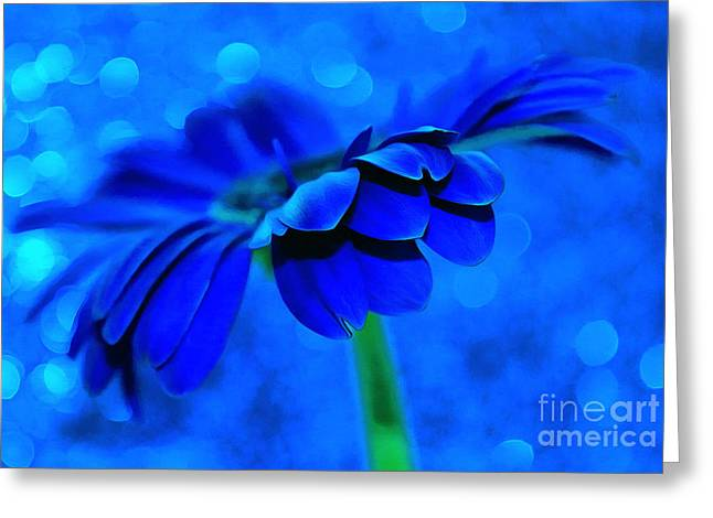 October Blues Greeting Card by Krissy Katsimbras
