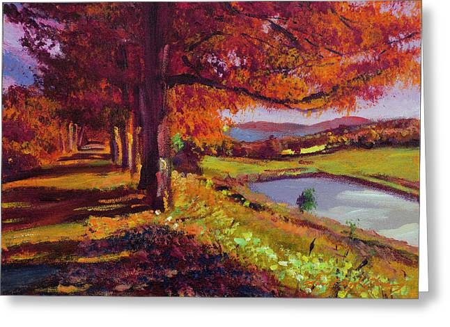 October Country Road - Plein Air Greeting Card