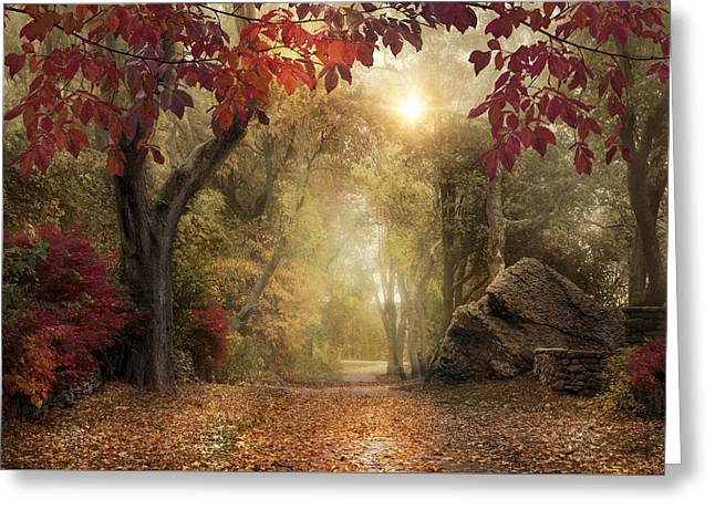 Greeting Card featuring the photograph October Dreamer by Robin-Lee Vieira