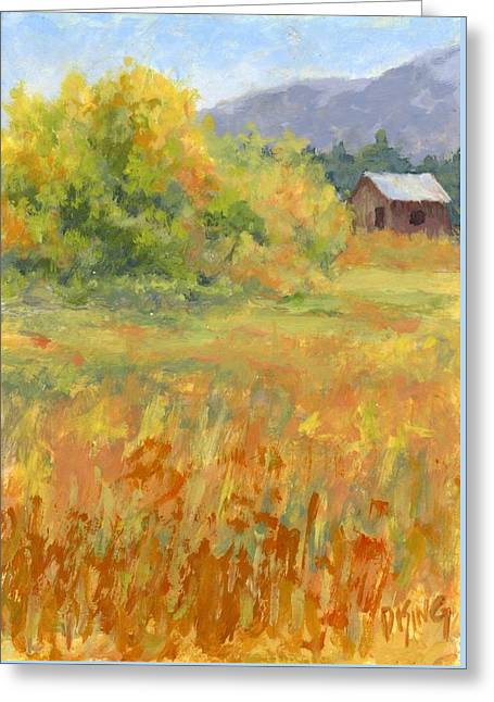 October Field Greeting Card by David King