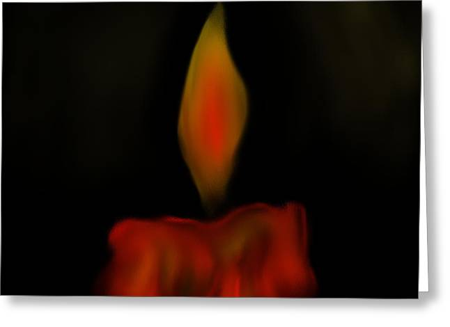October Flame Greeting Card by Kevin Caudill