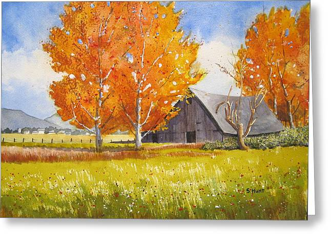 October Flame Greeting Card by Shirley Braithwaite Hunt