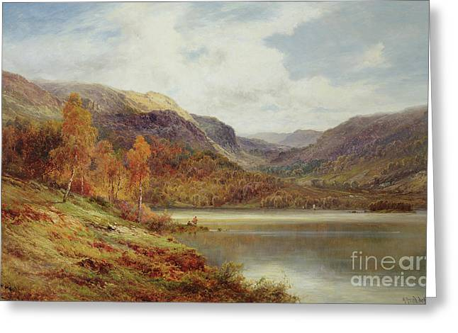 October In The Highlands Greeting Card by Alfred de Breanski
