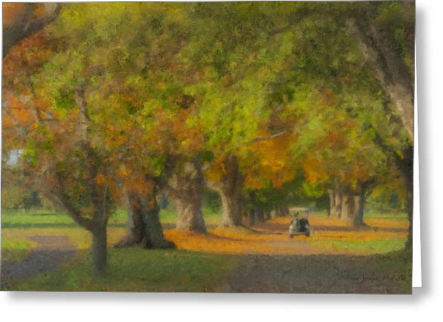 October Morning At Easton Country Club Greeting Card