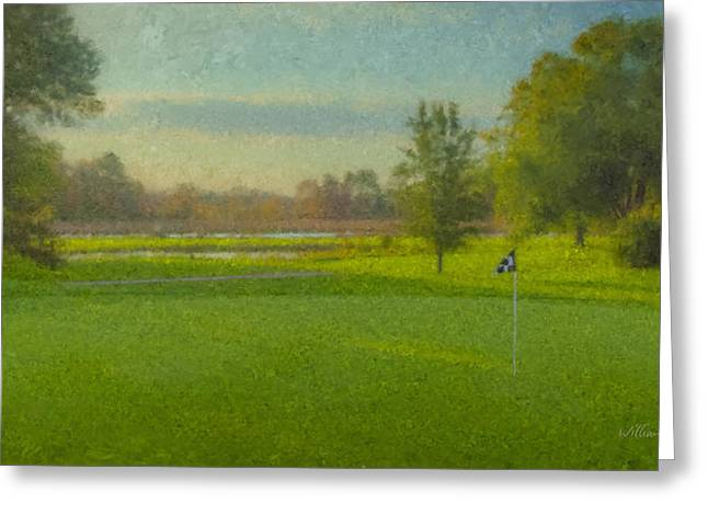 October Morning Golf Greeting Card